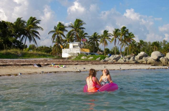 Plage de Virginia Key, à Miami