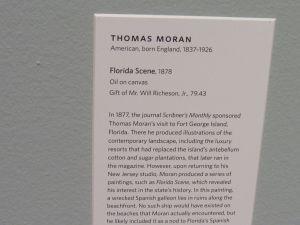 Florida Scene, par Thomas Moran en 1878, au Norton Museum of Art de West Palm Beach, en Floride