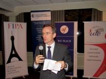 Le consul de France Clément Leclerc à la soirée des associations françaises à Miami organisées par L'Union des Français de l'Etranger, FIPA, Alliance Française et Miami Accueil