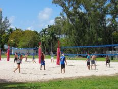 Volley ball dans un parc de Coconut Grove