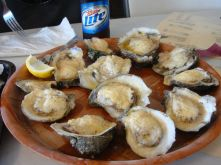 Butter Parm Oysters au Papa Joe's de Apalachicola en Floride