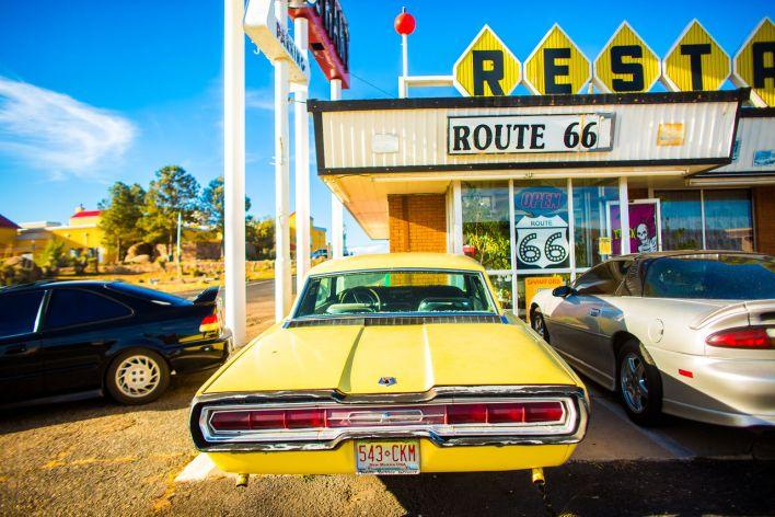 Restaurant à Santa Rosa (Nouveau-Mexique) sur la Route 66.