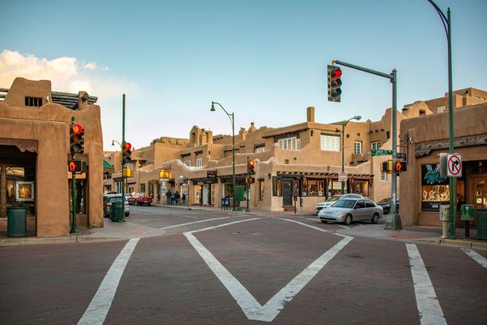 Le centre de Santa Fe, la capitale du Nouveau-Mexique.