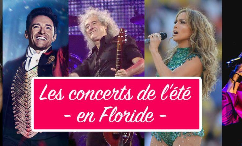 Les concerts à Miami et en Floride durant l'été (juillet et août) 2019.
