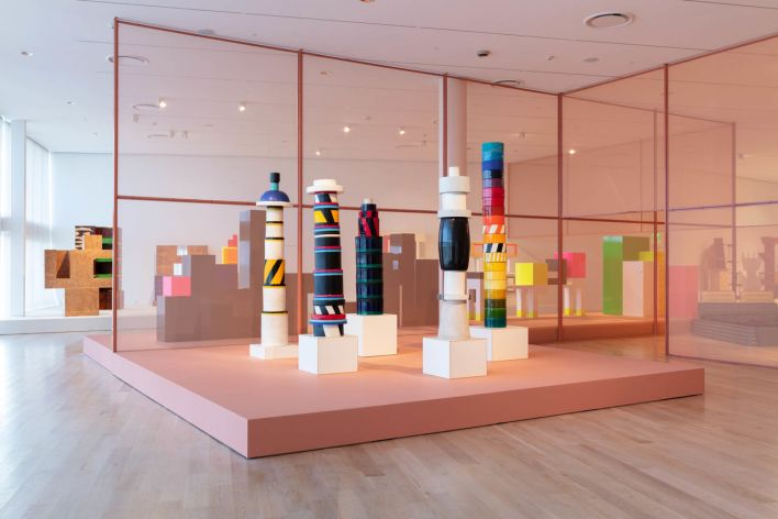 """Installation view: """"Ettore Sottsass and the Social Factory"""" at ICA Miami. Apr 18 – Oct 6, 2019. Photo: Fredrik Nilsen Studio."""