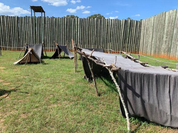 Prison confédérée d'Andersonville en Géorgie.
