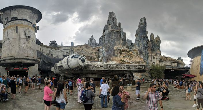 Le Millenium Falcon à Star Wars : Galaxy's Edge