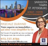 Pascale Durand Agent Immobilier à Sarasota, Tampa et St Petersburg