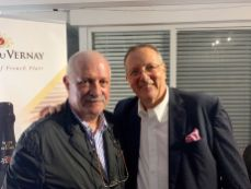 Roger Pardo avec le conseiller consulaire Xavier Capdevielle lors de la soirée FIPA d'octobre 2019