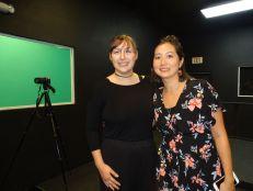 Corey Beattie et Yuko Deneuville du Viera Studio (Crédit photo : Diane Ledoux - Le Courrier de Floride)