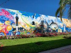 Fresque murale dans le centre de Pompano Beach