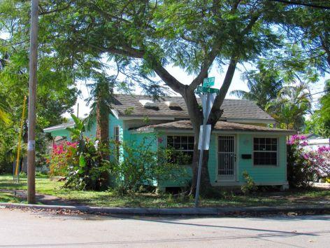 Vieille maison colorée à Pompano Beach