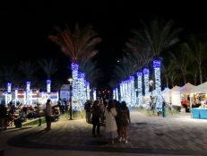 Ambiance à Las Olas plage (Fort Lauderdale) en soirée