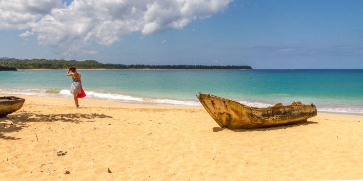 Playa Morón, près de Terrenas, sur la péninsule de Samaná en République Dominicaine.