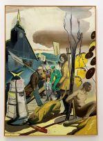 Peinture de Neo Rauch au Rubell Museum de Miami (collection privée d'art contemporain)