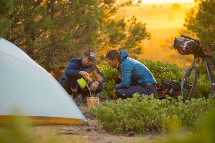 Campement près de Pole Canyon (sud de l'Utah).