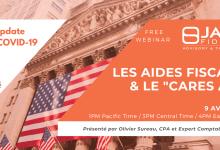 Photo of Aides aux Etats-Unis : webinar jeudi avec un expert-comptable de Jade Fiducial