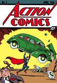 Le tout premier Superman sur la couverture d'Action Comics, en juin 1938.