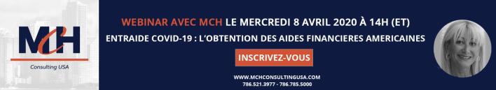 Covid-19 : Un webinaire gratuit consacré aux aides américaines, organisé par MCH Consulting