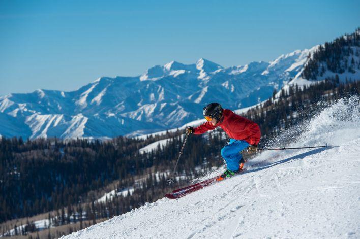 Ski à Park City (Utah).