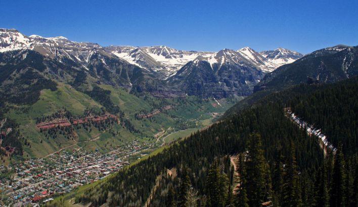 Telluride, station de ski du Colorado.
