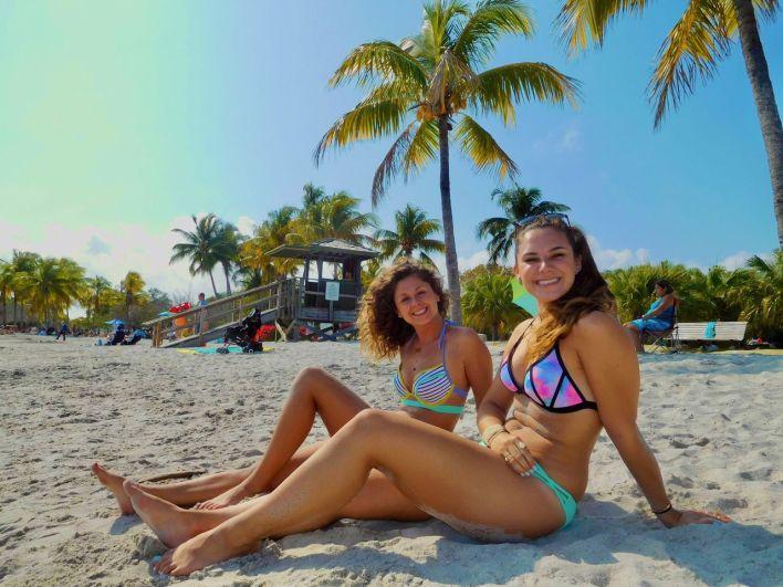 Sur la plage du Matheson Hammock Park de Miami