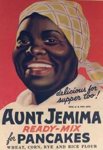 Auparavant l'image d'Aunt Jemima était encore plus caricaturale.