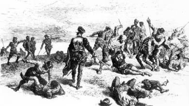 Le massacre de Jean Ribault par les troupes de Pedro Menendez