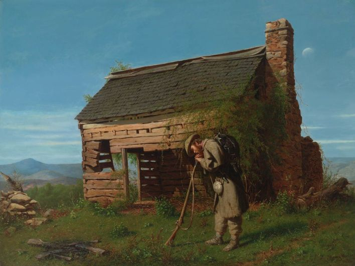 The Lost Cause : un tableau d'Henry Mosler  peint quelques années après la guerre de Sécession.