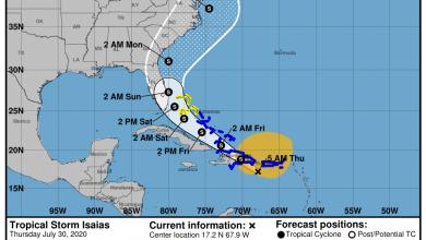 Photo of La tempête tropicale «Isaias» pourrait toucher la Floride