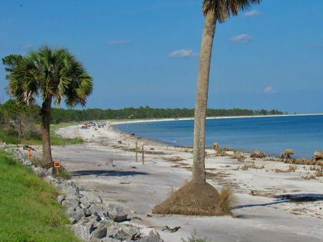 La plage de Carrabelle en Floride