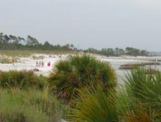 Plage sud-est (rivière près de la jetée) du St Andrews State Park de Panama City Beach