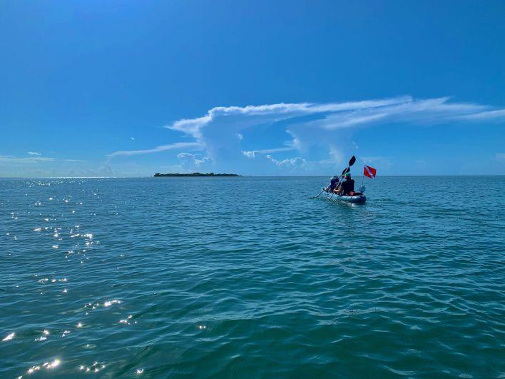 Kayak se rendant à  Indian Key, dans les Keys de Floride