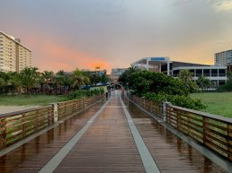 La plage de Pompano Beach en Floride