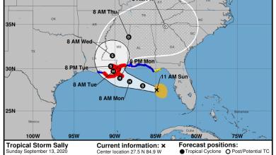 Photo de Alerte ouragan «Sally» en Louisiane et Mississippi. La Floride et l'Alabama sont en «alerte tempête tropicale»