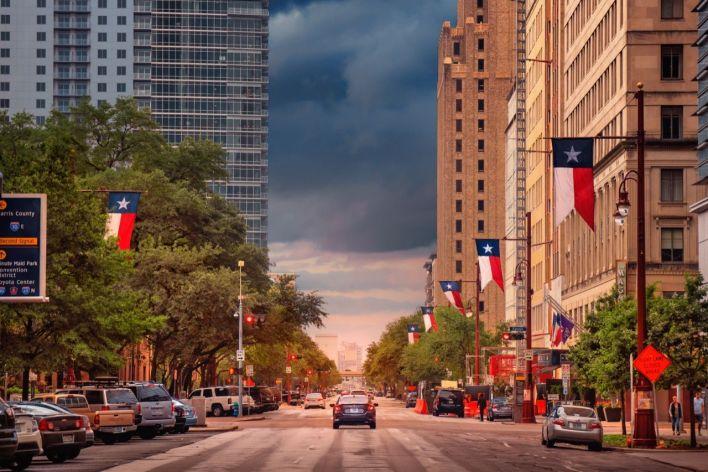 Downtown Houston, au Texas.
