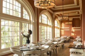 Restaurants et hôtel à Galveston.