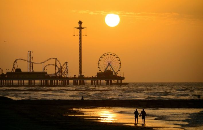 Le pleasure pier de Galveston.