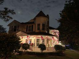 Lumière de Noël dans le quartier de Victoria Park à Fort Lauderdale en Floride