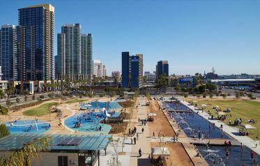Le Waterfront Park sur les quais de San Diego.