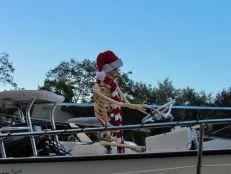 Décorations de Noël sur le Riverwalk de Fort Lauderdale en 2020.