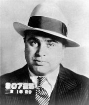 """Un fameux """"mugshot"""" de police du mafieux Al Capone"""