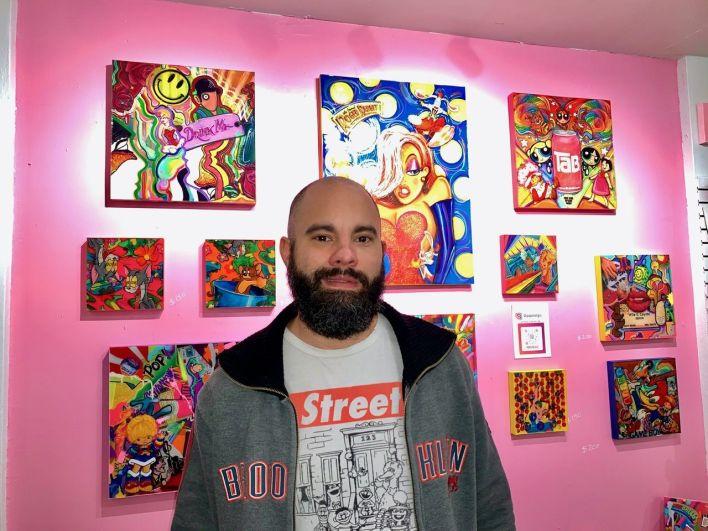 Le peintre@Popstalgic est au 807 NE 4th Ave dans le Mass District.