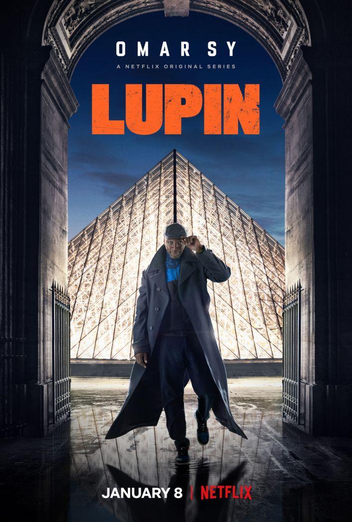 """Affiche de la série """"Lupin"""" (avec Omar Sy) produite par Netflix"""