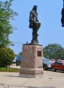Statue de Robert Cavelier de la Salle à Chicago