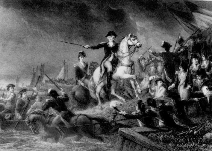 George Washington lors de la bataille de Long Island