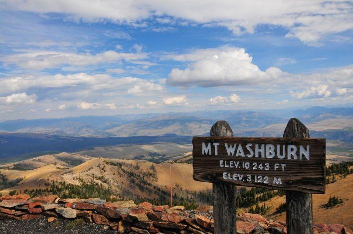 Vue depuis le Mount Washburn à Yellowstone.