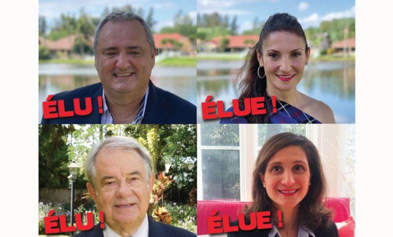 Consulaire de Floride : le duo Franck Bondrille et Axelle Gault largement élu. Jacques Brion et Laure Pallez emportent les 2 autres sièges.