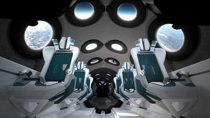 L'intérieur du Virgin Galactic SpaceshipTwo