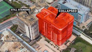 L'immeuble effondré (carte Google Map)